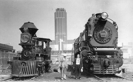 Beautiful Trainwreck Penn Steam Locos