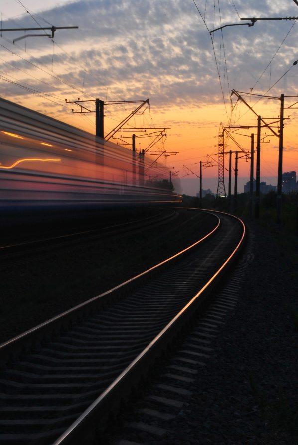 Beautiful Trainwreck sunset